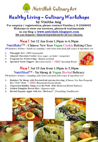 NutriHub Culinary Art-  CNY Jan 2013 Workshops by Vinitha Ang