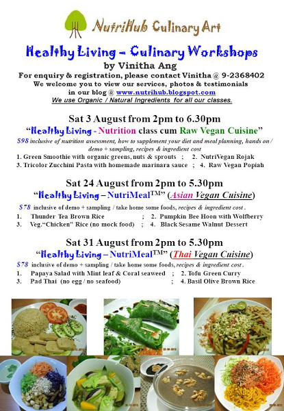 NutriHub Culinary Art-- Aug 2013 - Culinary classes