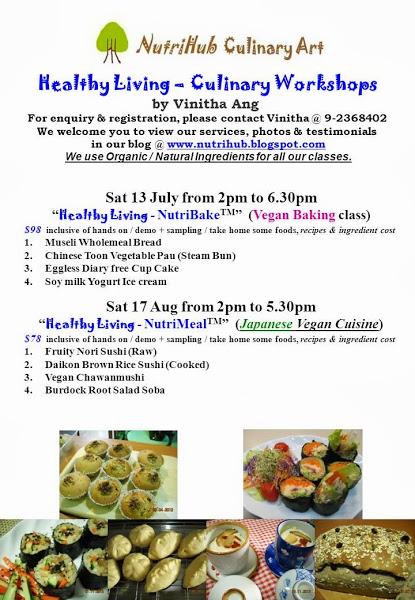NutriHub Culinary Art-- July 2013 - Culinary classes