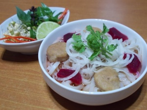 NutriHub Viet Pho with sprouted bean Meat Ball